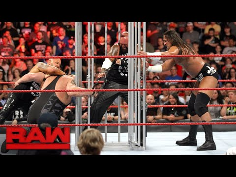 Thumbnail: Big Cass, Luke Gallows & Karl Anderson attack Big Show's hand: Raw, Aug. 14, 2017