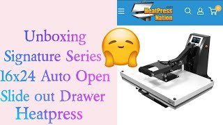 Unboxing| HPN Signature Series 16x24 Auto Open  Slide out Drawer Heat Press