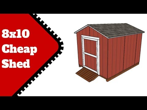 8×10 Cheap Shed Plans
