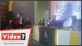 محمود حميدة يلقى قصيدة