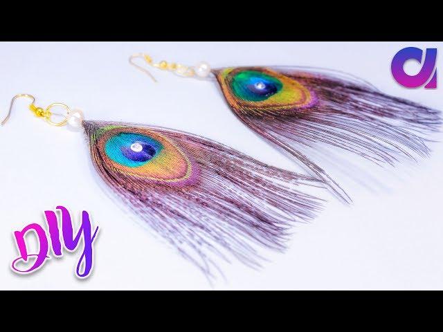 diy ideas   how to make peacock earrings in just 1 minutes   Artkala 232
