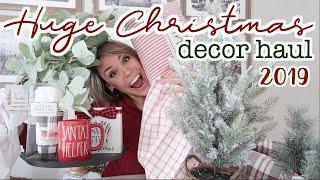 CHRISTMAS DECOR HAUL 2019 🎄 HOMEGOODS, KIRKLANDS & TARGET - FARMHOUSE CHRISTMAS DECORATIONS!
