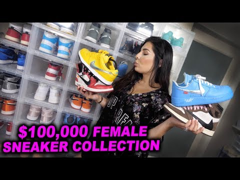 BIGGEST FEMALE HYPEBEAST SNEAKER COLLECTION!! *BEST ON YOUTUBE*