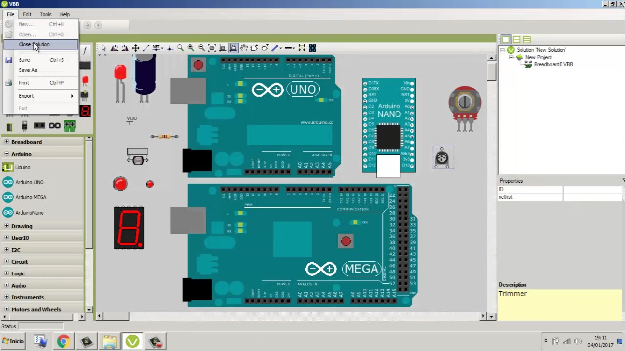 Simulador arduino virtual breadboard youtube