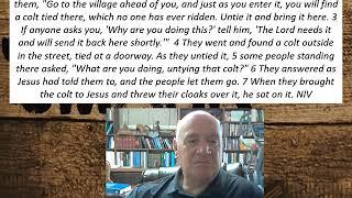 Lesson 70 Mark 11:1-7  September 16, 2020
