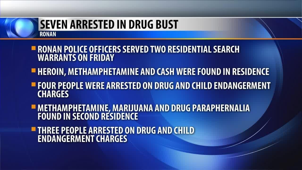 Ronan drug raids result in several arrests