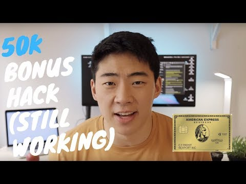 How To Get The 50K SIGN UP BONUS | AMEX GOLD CARD ( STILL WORKING)