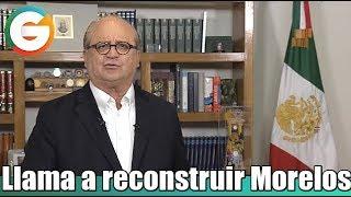 Graco Ramírez llama a reconstruir Morelos
