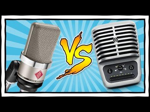 $1000 MIC vs $200 MIC [Neumann TLM102 vs Shure MV51] USB vs XLR