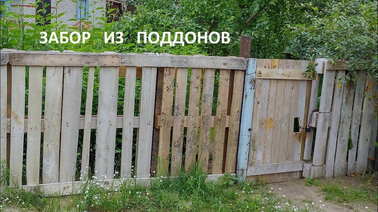 Забор из паллет своими руками фото