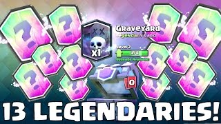 13 LEGENDARY CARDS IN ONE DAY | Clash Royale | Gemming All Cards To MAX Level Pt. 1