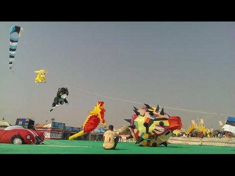 International Kite Festival, India, Ahmedabad 2014