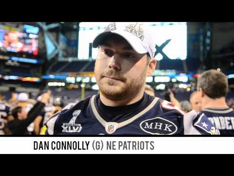 Media Day - SUPER BOWL XLVI - NE Patriots Dan Connolly Interview