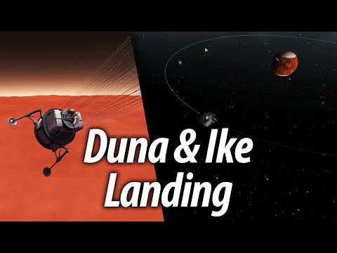 Duna & Ikes First Landing (Beginner Tutorial: 13) Kerbal Space Program (KSP) 1.1 Stock Career
