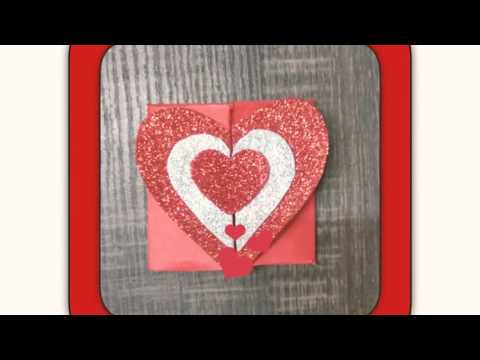 DIY PAPER HEART BOX & GIFT CARD ENVELOPE 💌