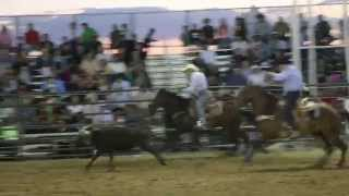 Mayor Javier M. Gonzales team roping at opening night of Rodeo de Santa Fe Thumbnail