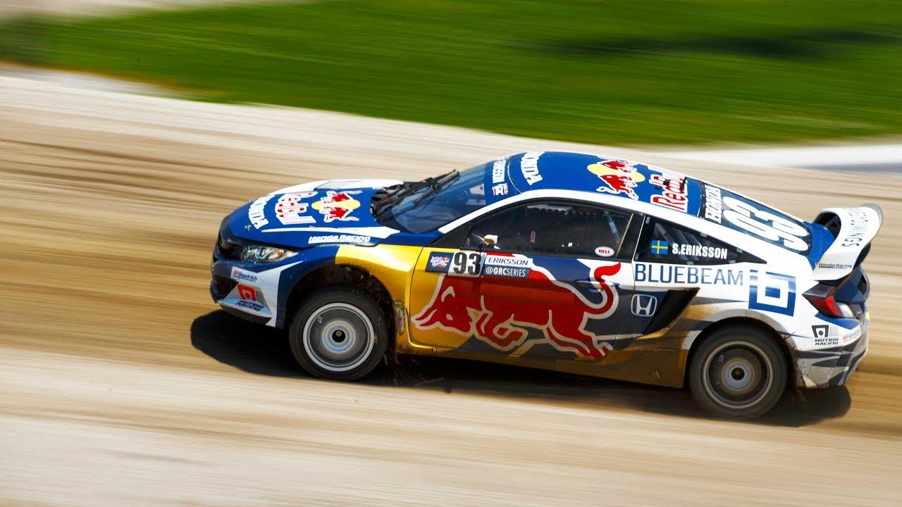 2016 honda civic coupe red bull global rallycross race car debuts in - 2016 Honda Civic Coupe Red Bull Global Rallycross Race Car Debuts In 40