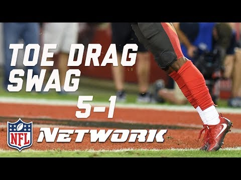 Breaking Down the Top 20 Toe Drag Swag Catches of 2016 (#'s 5-1) | Burleson's Best | GMFB | NFLN