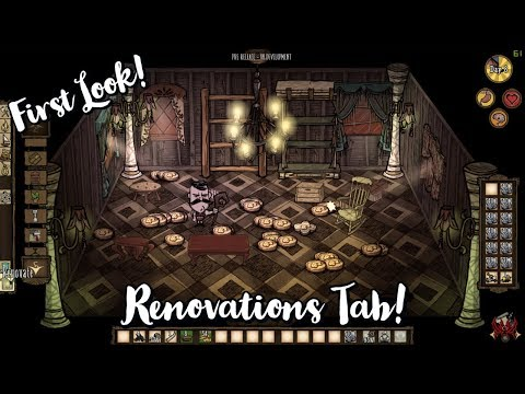 Don't Starve Hamlet Beta: Building/Renovations Tab!