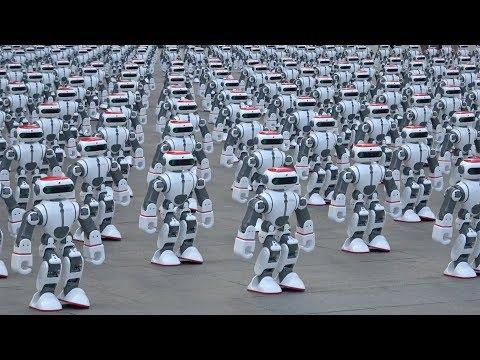 Mass robot dance routine breaks world record