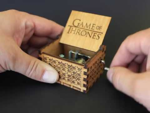 Game of Thrones - Handmade Engraved Wooden Music Box