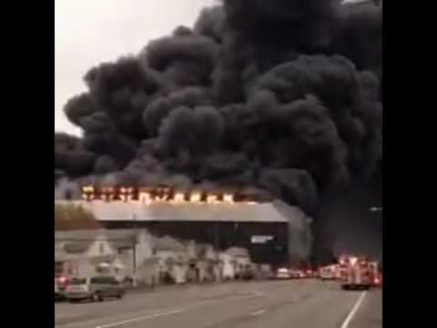 BREAKING: FULL Large fire at former Bethlehem Steel site. These are photos from viewers in the area.