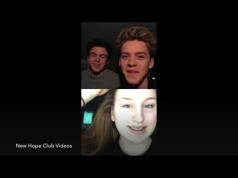 New Hope Club Live Hollywood Records Insta / Whoever He Is /Christmas song/Guesting Fans/ Dec 1 2017