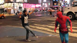 BHANGRA at TIMES SQUARE featuring {SPIDERMAN}