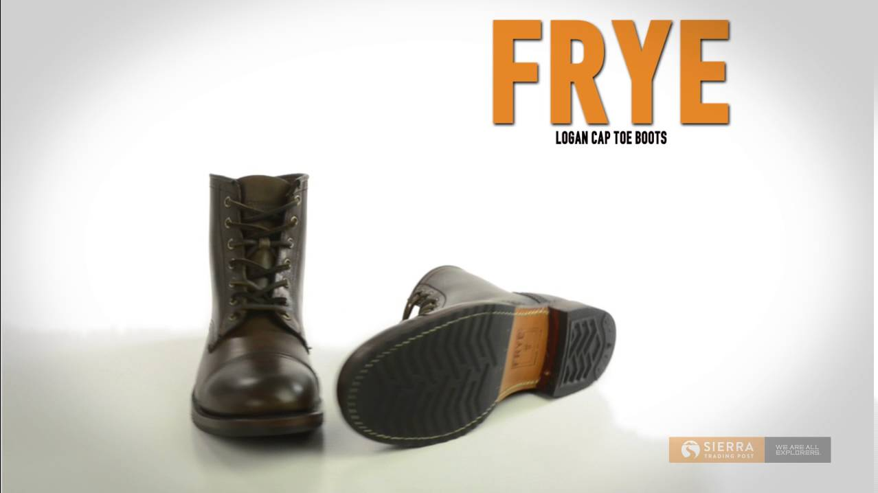 80deab9f Frye Logan Cap Toe Boots - Rugged Leather (For Men) - YouTube
