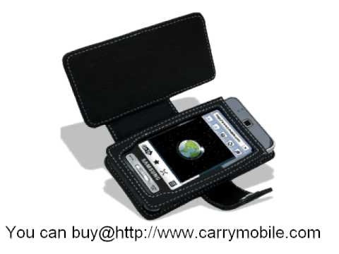 Carrymobile Leather Case for Samsung SGH-T919 Behold - Book Type (Black)