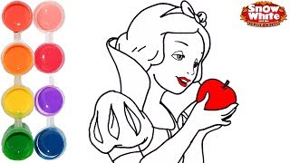 How to Draw & Color Snow White Disney Princess | Drawing Makeup Learning Tutorial | Learn Colors
