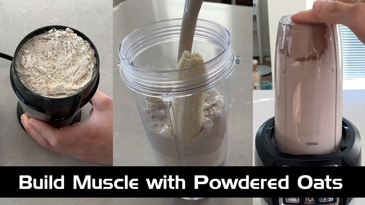 Download Homemade Powdered Oats for Higher Carb Protein Shakes Great For Building Muscle