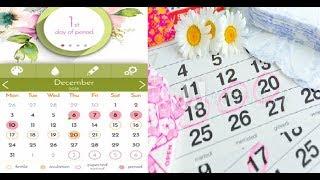 Look and Feel of period tracker/Fertile window Predictor App -