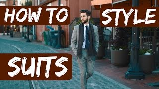 How To Style Suits | Mens Fall/Winter Fashion 2015 | TheGentlemansCove