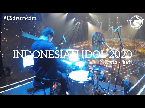 Echa Soemantri - Judi - Novia | Indonesian Idol 2020 #ESdrumcam