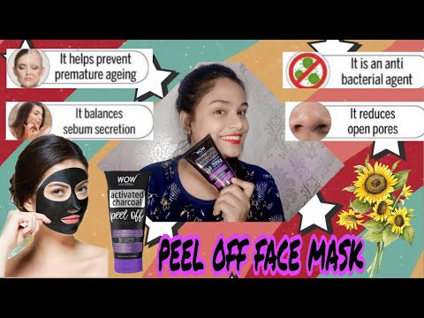 Wow activated charcoal peel off face mask honest review and demo live result