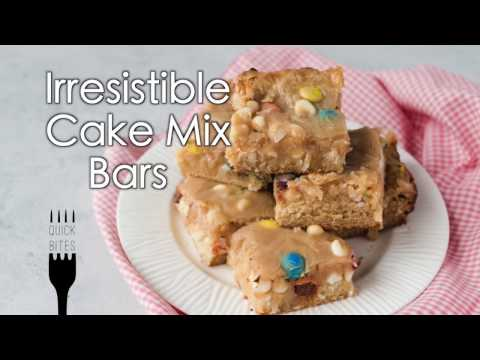 Irresistible Cake Mix Bars