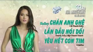 [KARAOKE] Liên khúc CHÁN ANH GHÊ | Hà  Thanh Xuân, Thanh Trúc, Diệp Thanh Thanh
