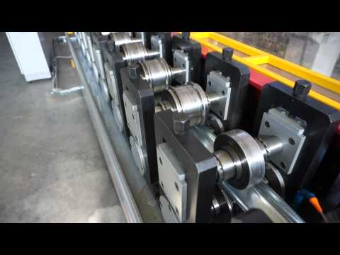 Roll forming machine for vineyards' poles