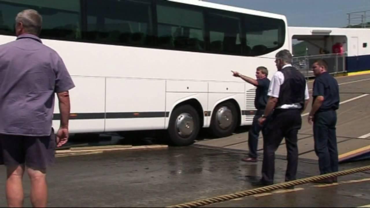 coach stuck on dartmouth higher ferry dartmouth u.k. high definition