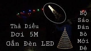 Thả Diều Sáo Dơi Dài 5M Gắn Đèn LED Cực Chất