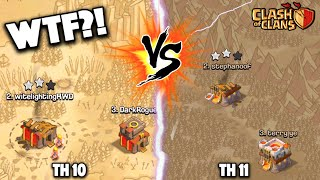 Clash of Clans - WTF IS THIS WAR? TOWN HALL 11s VS TOWN HALL 10s! Clan War Unfair Matchup