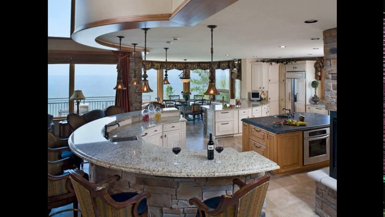 Curved kitchen island designs - YouTube