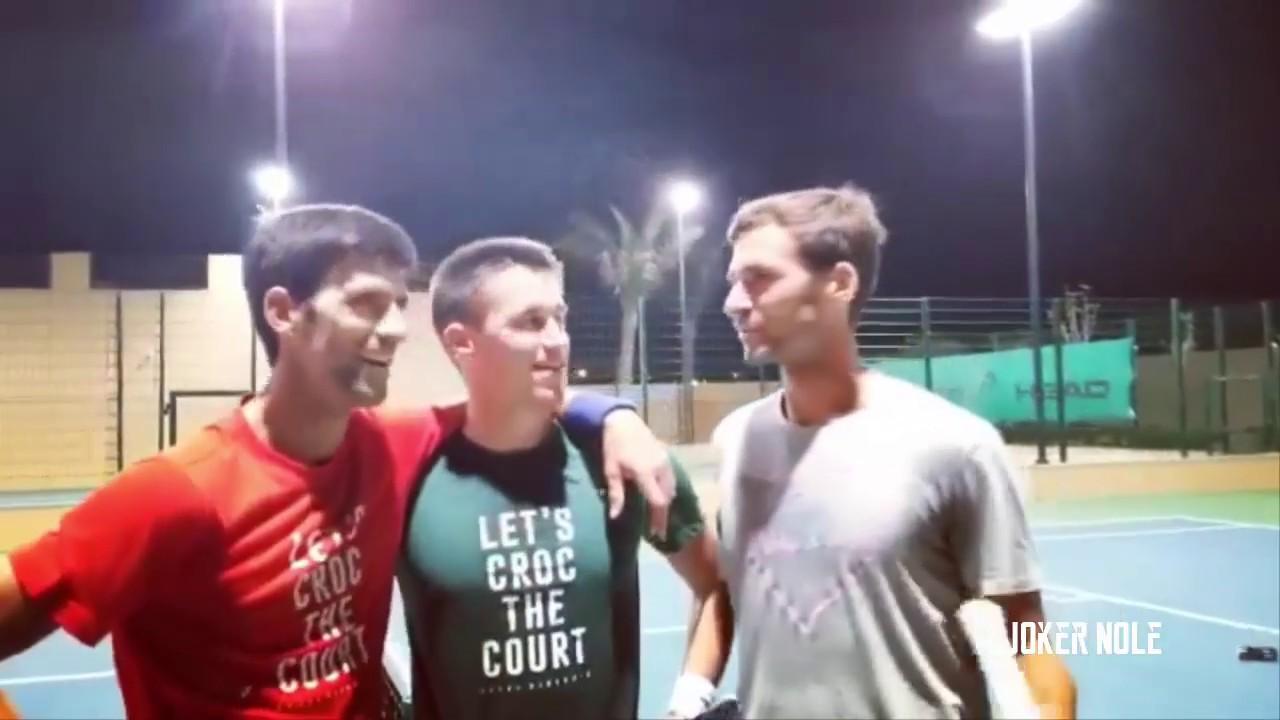 Novak Djokovic Practice With Brothers Abu Dhabi 2019 Hd Youtube