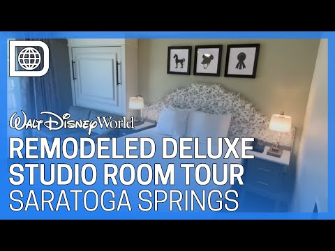 Remodeled Deluxe Studio Room Tour - Disney's Saratoga Springs Resort & Spa