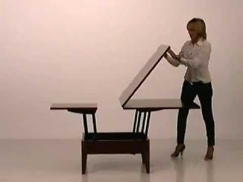 mas coffee table dining table space saving youtube. Black Bedroom Furniture Sets. Home Design Ideas