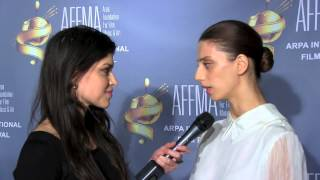 2014 Arpa Film Festival Red Carpet with actress Angela Sarafyan (Rising Star Award Winner)