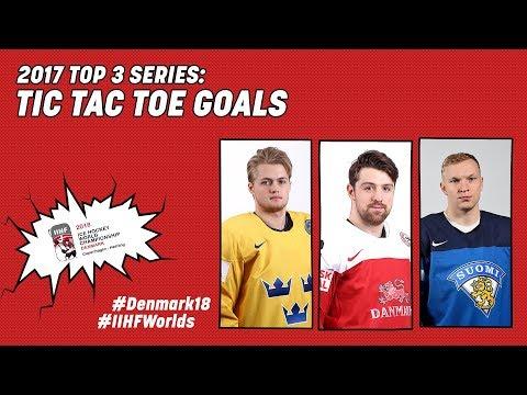 2017 Top-3 Series: Tic Tac Toe Goals - #IIHFWorlds 2018 - 동영상