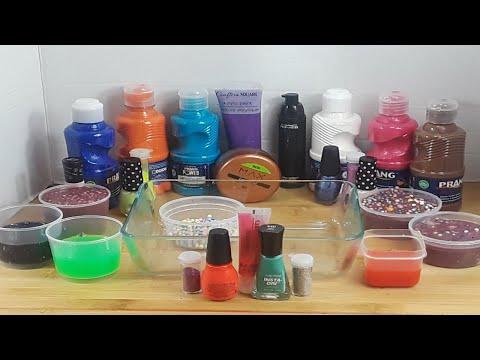 Mixing Slime, Paint, Makeup, Eyeshadows and MIXING into Slime ASMR! Satisfying Slime Video #45