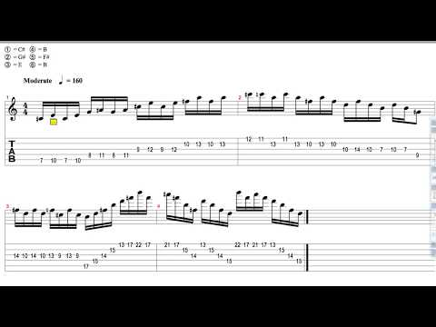 Parallel Horizons  Bloodstains (Lead Demonstration & Tabs)